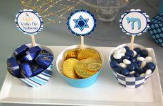 "Photo 2 of 16: Hanukkah ""Hanukkah dessert table""   Catch My Party"