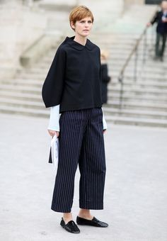 Stella Tennant at Paris Fashion Week