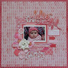 baby girl layout by Linda Eggleton