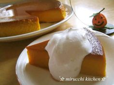 I think Rich and Thick Kabocha Pudding is a good dish to try in your home. Sweets Recipes, Baking Recipes, Cold Desserts, Best Dishes, Yummy Food, Yummy Yummy, Delicious Recipes, Deserts, Food And Drink