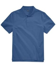 Club Room Men's Anson Pique Polo, Only at Macy's - Blue 3XL