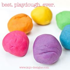 35+ Fun Activities for Kids to Do This Summer --> Make Colorful Playdough #kids #fun_activity #summer