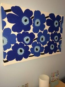Homemade Wall Art fabric wall art- kit for frame included- idea for hallway in lodi