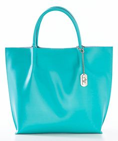 Loving this Anna Morellini Turchese Leather Tote on #zulily! #zulilyfinds