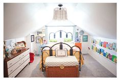 This seems to be a similar size to our attic. If we used the attic as a kid's bedroom, this is good for ideas.