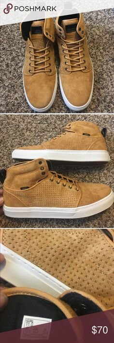 Vans Camel Tan Suede Alomar Hi-Tops NWT Vans are real suede wheat color, great condition, never worn and comes with original box. This style is a NWT rare find and no longer in production. Comes from a smoke and pet free home if you have any questions please feel free to ask  Vans Shoes