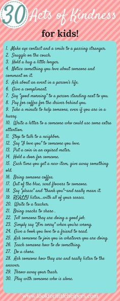 Thirty random acts of kindness for kids! Easy and simple ways kids can pass along kindness. Kindness Activities, Activities For Kids, Teaching Kindness, Good Parenting, Parenting Hacks, Kindness For Kids, Kindness Elves, Kindness Ideas, Raising Boys