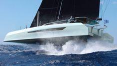 Dazcat A Racer-Cruiser Catamaran Designed To Be Fast And Safe Range Over, Outside Seating Area, Sailing Catamaran, Bar Led, Family Cruise, Yacht Design, Solar Panels, Sailboats, Yachts
