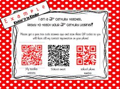 Rainy day fun movie trailers teacher and movie kickin it in kinder use qr codes to quickly give out your important numbers fandeluxe Choice Image