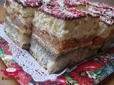 Kociołek Iwony: Ciasto warstwowe z kokosem i masą jabłkową (Ciasto...