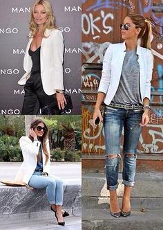 fashiontrademoda | Get the look: white blazer