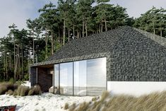 located in the village of pleśna, poland, the cabin allows a spectacular view of the baltic sea.