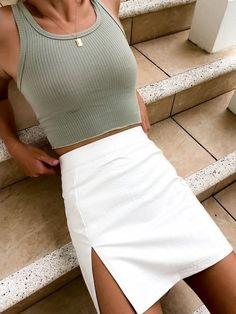 Summer Fashion Tips .Summer Fashion Tips Cute Casual Outfits, Cute Summer Outfits, Spring Outfits, Outfit Summer, Unique Outfits, Skirts For Summer, Simple Outfits, Stylish Outfits, Summertime Outfits