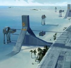 Marvel, Star Wars, Fantastic Beasts, Disney, Agents of O.N.C.E. — Scarif concept arts for Rogue One: a Star Wars...
