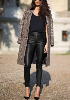 Black PU Leather Skinny Pants