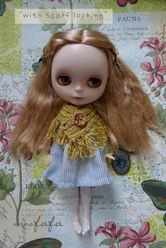 Mooji Dress  Baby Blue Strip  For Blythe
