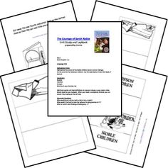 The Courage of Sarah Noble <br /> Unit Lessons and Printables