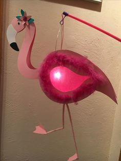 Flamingo Laterne DIY Laternelaufen pink rosa Martinssingen Sankt Martin