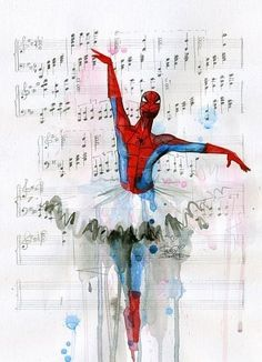 Yes, Yes... It's spiderman... and yep he's dancing ballet. Nice.