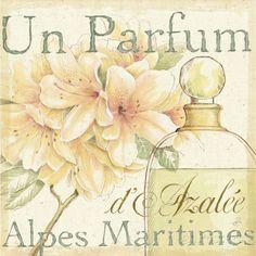 Fleurs and Parfum III Impressão artística