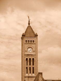 Mercury atop Union Station clock tower, Nashville, TN