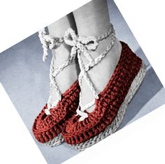Vintage 40s Crochet Pattern Wedgie Ballet Slipper Sandal Shoes PDF. $2.50