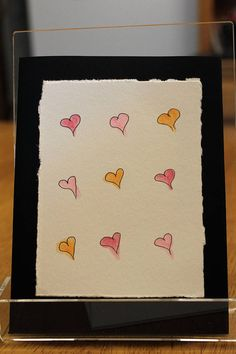 Items similar to Blank Black card with colorful hearts on Etsy Black Card, How To Draw Hands, Card Making, Greeting Cards, Hearts, Colorful, How To Make, Painting, Etsy