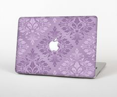 "The Light and Dark Purple Floral Delicate Design Skin Set for the Apple MacBook Pro 15"" with Retina Display from Design Skinz"