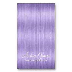 Long Wavy Purple 4 Hair Colorist Business Card