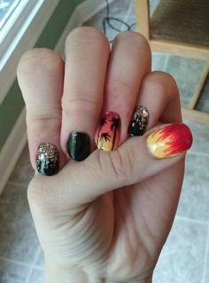 BTS Fire kpop nail art (Young Forever) -- Ellisy