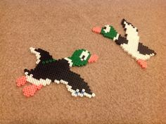 Set of 2 Ducks from Duck Hunt - Perler Bead Sprite by VGPerlers on Etsy