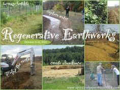 Regenerative Earthworks Course Rainwater Harvesting, Erosion Control and Soil Fertility Water From Air, Rainwater Harvesting System, Water Scarcity, Natural Farming, Western University, Erosion Control, Permaculture Design, Water Resources, Greenhouse Gases