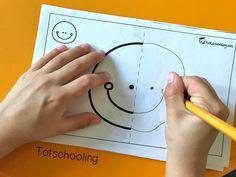 Symmetry Picture Drawing | Totschooling - Toddler, Preschool, Kindergarten Educational Printables