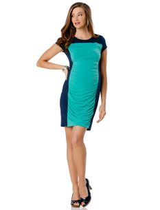 ORDERED. Bachelorette Party.  Short Sleeve Colorblock Dress - $89.50