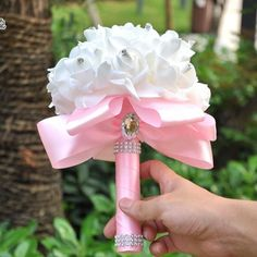 8 Colors Beautiful Artificial Royal Blue Wedding Bouquet 2016 Mint Green Bridesmaid Bridal Bouquets White Buque De Casamento