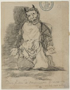 Goya – Dice que son de nacimiento, y pasa su vida con... 1825-1828 c. Álbum de Burdeos I o Álbum G, 19 | Museo Nacional del Prado