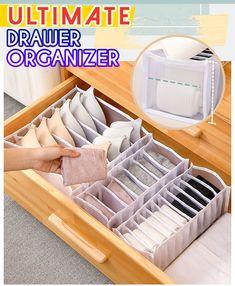 Underwear Storage, Underwear Organization, Bedroom Organization Diy, Home Organization Hacks, Diy Bedroom Decor, Organizing, Dresser Drawer Organization, Dresser Drawers, Bedroom Closet Design