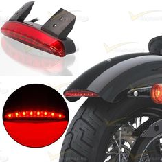 Back To Search Resultshome Fender Edge Led Tail Light Universal Triangle Red Lens Rear Brake Tail Lamp Replacement Light Stop Running Light For Motorbike