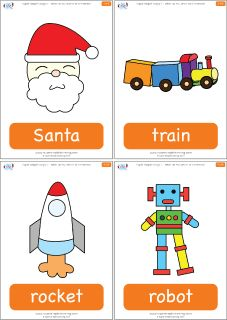 "Toy flashcards for the Super Simple Learning song ""What Do You Want For Christmas?"" #preK #Kindergarten #ESL"