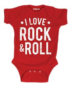 Another great find on Red 'I Love Rock and Roll' Bodysuit - Infant by LC Trendz Honey Bee Kids, Love Rocks, Baby Fever, Rock And Roll, Infant, Rolls, Bodysuit, Red, Babies