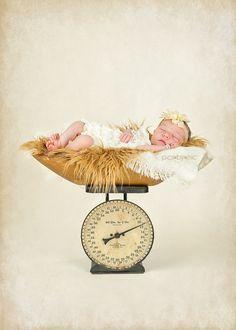 Pics-By-Mic | New Caney Texas | Newborn & Baby Photographer | Newborns | Vintage Scale, newborn, girl, newborn pictures, newborn pose