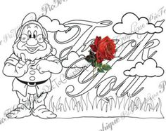 Adult Coloring Page The Swearing Words Life Is A By PicToGraphique