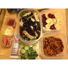 What healthy meals should look like on the go. Yum!! This was the best 12 hour shift at work ever