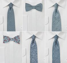 Slate Blue Wedding Ties and Bow Ties | Winter Groomsmen Accessories