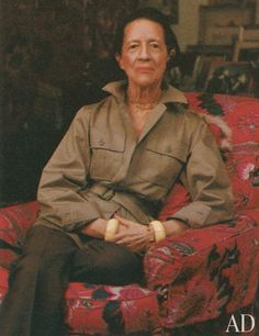 """""""The only real elegance is in the mind; if you've got that, the rest really comes from it."""" Diana Vreeland"""