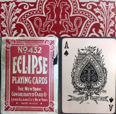 Genuine HTF Authentic c1885 American Playing Poker Eclipse Playing Cards Ivory smooth FINISH. YEAR : c1885. Printer: NYCC Samuel Hart Co. Back : Hiding Monkey. Size: Poker. Even better, there is the enjoyment of fellow collectors, some of the most interesting people in the world! | eBay!