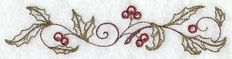 Boughs of Holly Border (Vintage) Family Christmas Stockings, Machine Embroidery Designs, Vintage Designs, Crafty, Creative, Waffle, Color Change, Towels, Weave