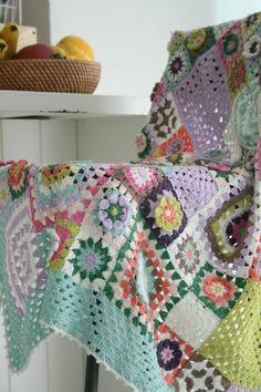 Crochet  blanket granny variation.