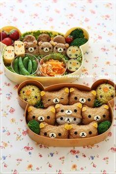 Bento+with+Rilakkuma+Inari+Sushi