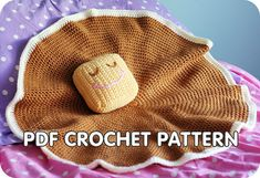 PDF Crochet Pattern - Pancake Lovey - security blanket with butter pillow via Etsy